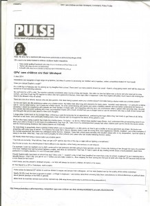 Pulse writing competition