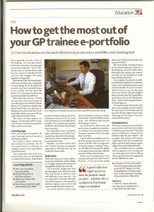 Trainee e-portfolio article for GP magazine, February 2015
